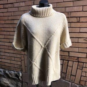 Escada Vintage M L 42 Yellow gold cream Sweater